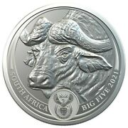Buffalo Andndash Big Five 2021 5 Rand 1 Oz Pure Silver Bu Coin In Blister South Africa