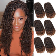 12 Inch Spring Twist Crochet Hair 6 Packs Jamaican Bounce Twist Braids Short