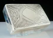 Large American Antique Sterling Silver Snuff Box, Wood And Hughes C.1870