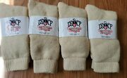 Genuine Military Issue Size 9 Cold Weather Socks Dscp White Wool Lot Of 4