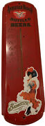 Vintage Anheuser -busch Bottled Beers Thermometer 8 1/4 X 27 Budweiser Girl