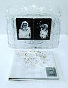 Mikasa Germany Nos Lead Crystal Double Photo Frosted Frame + Guest Book
