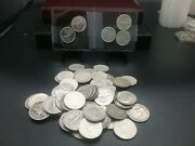 5 Face Value 90 Silver Dimes And Half Troy Ounce Silver Of 1/10 Fractional...