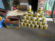 Sunoco Dynalube Vintage Oil Cans Full Case Of 24 In Orig Case 1960s
