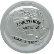 Drag Specialties Live To Ride Vented Gas Cap For 84-e96 Models Ds-390134 Chrome