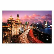 1000 Pieces Jigsaw Puzzle For Adult Night Shanghai Chinese Cityscape Wooden P...