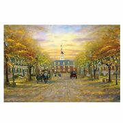 500 Piece Wooden Jigsaw Puzzles Autumn Landscape Oil Painting Jigsaw Puzzles Toy