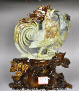 17 Exquisite Natural 100 Xiu Jade Carved Zodiac Rooster Cock Animal Sculpture