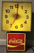 Vintage 1970s Coca Cola Electric Lighted Wall Clock
