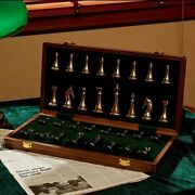 Professional Wooden Chess Set Luxury Metal Chess Family Classic Board Games Quee
