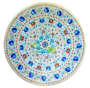 36 Marble Dining Table Top Center Round Table Marquetry Inlay Art Garden Decor