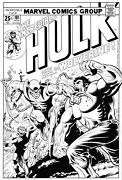 Hulk 181 Cover Recreation By Gary Martin After Herb Trempe 1st Wolverine