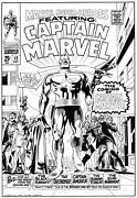 Captain Marvel Cover Recreation By Gary Martin After Gene Colan 1st Appearance