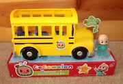 Cocomelon Musical Yellow School Bus Jj Figure Jazwares Wheels On The Bus Big Toy