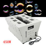 Double-impeller Vertical Bubble Machine W/ Remote Controller For Concert Stage
