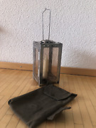 Swiss Army Folding Lantern With Candles And Canvas Bag Made In 1972