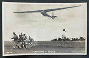 Mint England Real Picture Postcard Launching A Glider Valentines Rppc