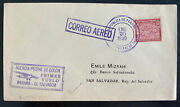 1930 Colon Canal Zone Panama First Flight Airmail Cover To El Salvador 346 Flown