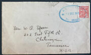 1925 Us Naval Navy Marines Mission In Brazil Cover To Chattanooga Tn Usa