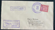 1930 Colon Canal Zone Panama First Flight Airmail Cover To Guatemala 140 Flown