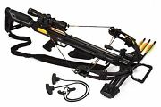 Bruin Ambush 370 Crossbow Package W/ Scope Bolts Quiver And Cocking Rope