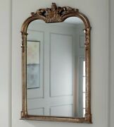 Gold French Acanthus Arched Wall Vanity Mirror Modern Farmhouse Chic Horchow