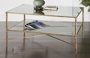 Horchow Barstow Gold Coffee Table Modern French Farmhouse Regency Glam New