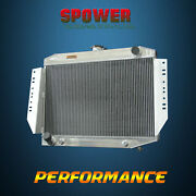Spawon 4 Rows 62mm At/mt 441 Aluminum Radiator For Jeep Cherokee 1972-1979