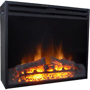 Cambridge 28-in. Freestanding 5116 Btu Electric Fireplace Heater Insert With Rem