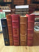 A Set Of 5 Leather Bound Easton Press And Franklin Library Collectable Books
