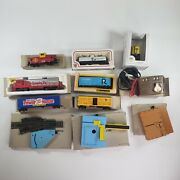 Lot Of Bachmann Electric Toy Trains With Power House Switch Locomotive Cars