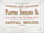 Patronize Home Institutions / Planters Insurance Co / Of Tennessee / Office
