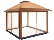 Outdoor Living Suntime Instant Pop Up Patio Gazebo With Full Netting For Family