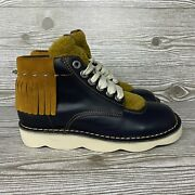 Coach Mens Trooper Shearling Derby High Top Boots Size 7d New Nwob G1292