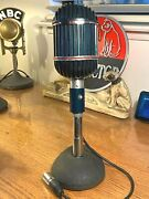 Vintage 1940's Altec 639b Ribbon Microphone-working W/stand, Cable, Dust Cover
