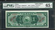 China American-oriental Bank Of Fukien 1 Dollar P.s107a Pmg65 From 1922 Spe