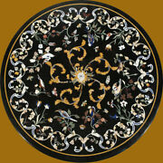 3and039 Dining Center Marble Table Top Inlay Malachite Lapis Decor Antique