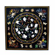 3and039 Marble Coffee Table Top Pietra Dura Inlay Work Home And Garden Decor Antique