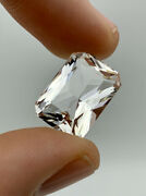 14.48ct Octagon Cut Faceted Ny Herkimer Diamond Quartz Gem, Clear And Brilliant