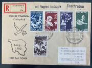 1951 Saar Germany First Day Cover 375 Year Anniversary Cv 164 To Chicago Usa