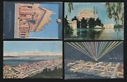 Us 1915 Pan-pacific International Expo Postcards Lot Of 4 Ppie13