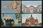 Us 1915 Pan-pacific International Expo Postcards Lot Of 4 Ppie11