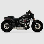 Vance And Hines Stainless Hi Output 2 Into 1 Exhaust Pipes Harley Softail 18+ M8