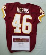 46 Alfred Morris Of Redskins Nfl Game Used And Unwashed Jersey Vs Rams With Coa