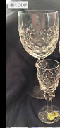 Waterford Powerscourt Water Goblets, Champagne, And Cordials - Set Of 3 / Lot Of 6