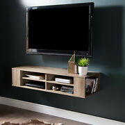 South Shore City Life Wall Mounted Media Console - 48rdquo Wide - Extra Storag