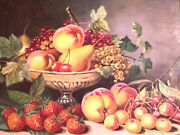 Antique Large Bright Still Life Canvas Oil Second Half Of The 50s Of The Ussr