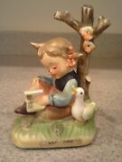 Beautiful Erich Stauffer Girl With Duck 5 Tall Med Nap Time U55/20