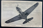 Mint England Rppc Real Picture Postcard Curtiss Weight Tomahawk Fight Airplanes