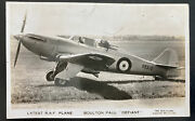 Mint England Rppc Real Picture Postcard Raf Airplanes Bolton Paul Defiant
